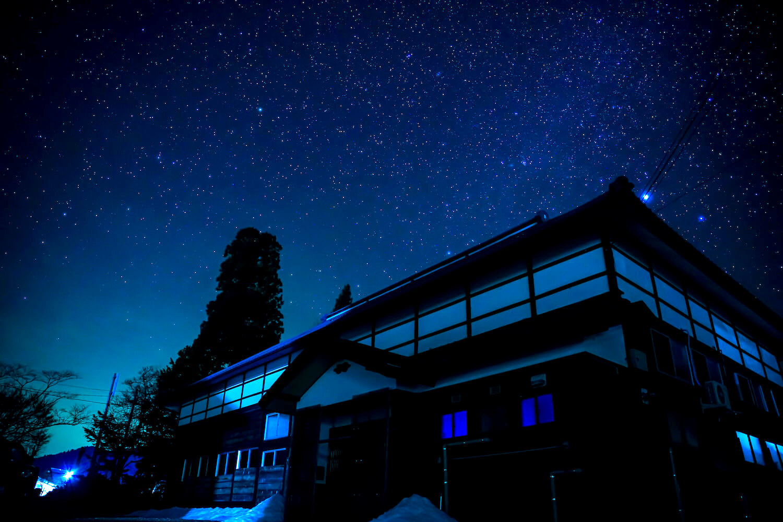 福島県昭和村の夜景