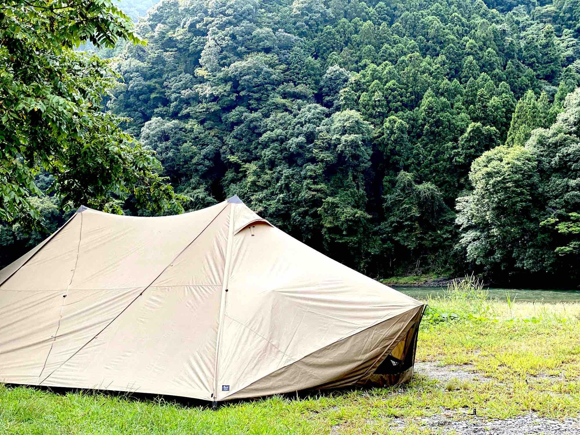 ポールテントを二又化して、快適な居住空間を手に入れよう!